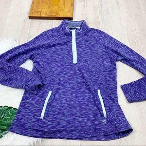 Avalanche Purple Athletic Pullover Sweatshirt Xl
